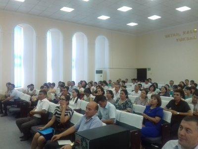 Joriy yilning 7-8 sentyabr kunlari Navoiy viloyati Navoiy davlat pedagogika institutida o'quv seminar bo'lib o'tdi
